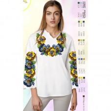 Заготовка женской сорочки на белом габардине Biser-Art SZ76