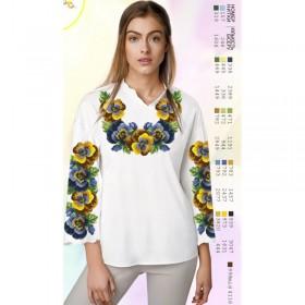 Заготовка женской сорочки на белом габардине Biser-Art SZ76 - 320.00грн.