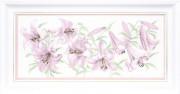 Набор для вышивки крестом Сиреневые лилии