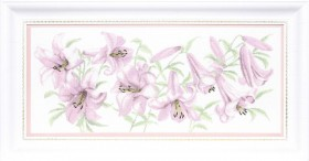 Набор для вышивки крестом Сиреневые лилии, , 564.00грн., М-231, Чарiвна мить (Чаривна мить), Цветы