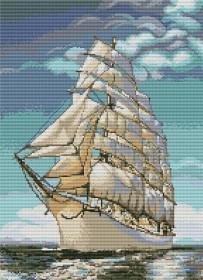 Набор для вышивки крестом Парус, , 313.00грн., В335, Luca-S, Морская тематика