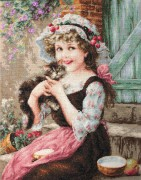 Набор для вышивки крестом Маленький котенок