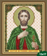 Рисунок на ткани для вышивки бисером Святой Анатолий