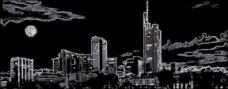 Схема вышивки бисером на атласе Ночной город Эдельвейс ДС-008