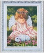 Набор для вышивки бисером Ангел с кроликом