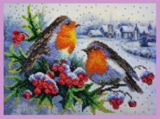Набор для вышивки бисером Зимняя песня Картины бисером Р-284