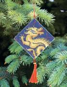 Набор для вышивки нитками Новогодняя игрушка Гороскоп дракон