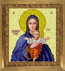 Набор для вышивки ювелирным бисером Икона Леушинская Краса и творчiсть 61013