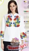 Заготовка вышиванки Женской сорочки на белом габардине