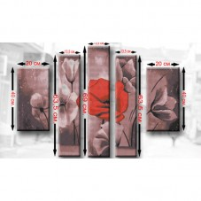 Схема для вышивки бисером Полиптих Маки Biser-Art ТМ3