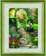 Схемы для вышивания бисером на авторской канве Ворота в сад