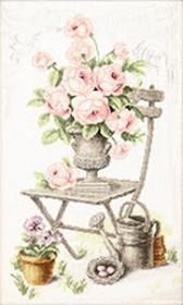 Набор для вышивки крестом Летний натюрморт с розами