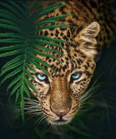 Схема вышивки бисером на атласе Ягуар в джунглях Tela Artis (Тэла Артис) ТА-490 - 115.00грн.