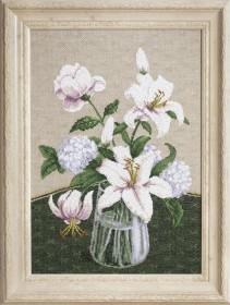 Набор для вышивки крестиком Таинство белых цветов, , 428.00грн., М-280, Чарiвна мить (Чаривна мить), Цветы