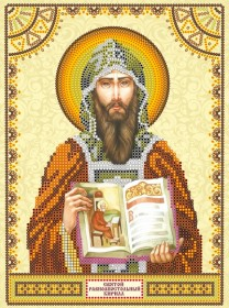 Схема для вышивки бисером на холсте Святой Кирилл