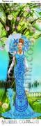 Схема вышивки бисером на атласе Панно Волшебная леди