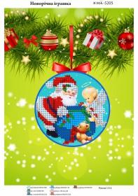 Схема для вышивания бисером на атласе Новогодняя игрушка, , 23.00грн., ЮМА-5205, Юма, Новый год
