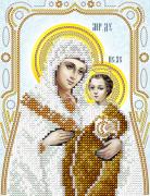 Схема для вышивки бисером на атласе Вифлеемская икона Божьей Матери (серебро)