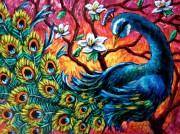 Набор для выкладки алмазной мозаикой Красочный павлин