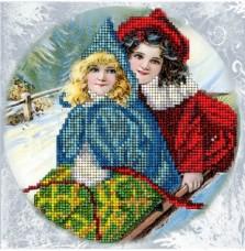Набор для вышивки ювелирным бисером Рождественские истории 16 Краса и творчiсть 60915