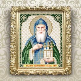 Схема вышивки бисером на авторской канве Святой Благоверный Князь Олег