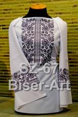 Заготовка для вышивки бисером Сорочка женская Biser-Art Сорочка жіноча SZ-67 (габардин)