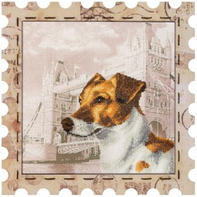 Набор для вышивки нитками Почтовая марка Джек Рассел терьер Новая Слобода (Нова слобода) КО4022-У - 275.00грн.