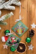 Набір для вишивки новорічной прикраси Тепла шапочка