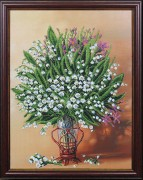 Набор для вышивки бисером Весенняя ваза