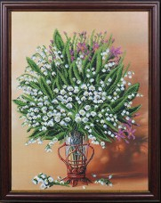 Набор для вышивки бисером Весенняя ваза Магия канвы Б-229 Мк