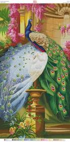 Схема для вышивки бисером на габардине Павлины, , 200.00грн., БН-142, Вишиванка, Большие схемы вышивки бисером