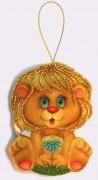 Набор для изготовления игрушки из фетра для вышивки бисером Львенок