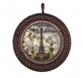 Набор для вышивки подвески бисером Париж