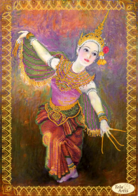 Схема для вышивки бисером на атласе Цветок Таиланда Tela Artis (Тэла Артис) ТА-370 - 95.00грн.