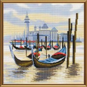 Набор для вышивки крестом Пристань в Венеции