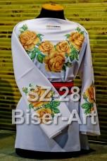 Заготовка для вышивки бисером Сорочка женская Biser-Art Сорочка жіноча SZ-28 (габардин)