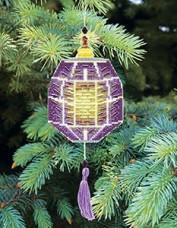 Набор для вышивки нитками Новогодняя игрушка Фиолтетовый фонарик Чарiвна мить (Чаривна мить) Т-28