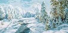 Набор для вышивки крестом Зимний иний Чарiвна мить (Чаривна мить) М-366