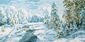 Набор для вышивки крестом Зимний иний Чарiвна мить (Чаривна мить) М-366 - 485.00грн.
