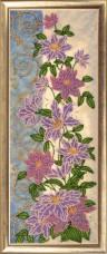 Набор для вышивки бисером Панно с клематисами Баттерфляй (Butterfly) 156Б