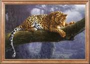 Схема для вышивки бисером на атласе Леопард