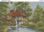 Схема для вышивки бисером на габардине Голландский пейзаж