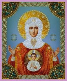 Набор для вышивки бисером Знамение Святой Богородицы, , 955.00грн., Р-272, Картины бисером, Иконы 26*35 (А3)