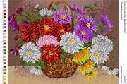 Рисунок на габардине для вышивки бисером Різнобарв'я в корзині