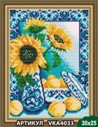 Рисунок на ткани для вышивки бисером Гжель. Персики