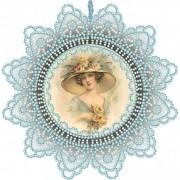 Набор для вышивки подвески бисером Красавица