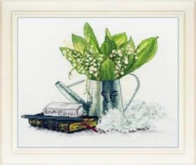 Набор для вышивки нитками Ландыши (художник Мишкарева Мария)
