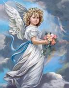 Набор для выкладки алмазной мозаикой Ангел в облаках