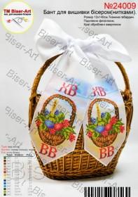 Пасхальный бант для вышивки бисером(нитками), , 48.00грн., В24009, Biser-Art, Пасхальная вышивка