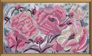 Схема для вышивки бисером на атласе Розовые пионы
